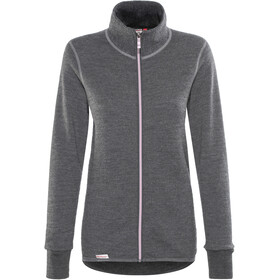 Woolpower 400 Colour Collection Chaqueta con cremallera completa, grey/rose